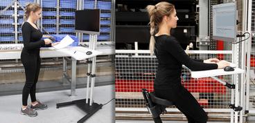 RK Rose+Krieger Höhenverstellbarer Monitorständer
